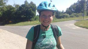 Julie biking