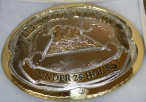 Leadville belt buckle