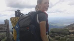 Julie atop Katahdin