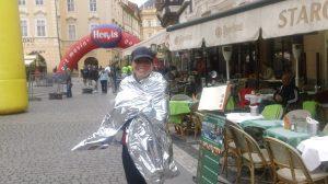 Julie after Prague marathon