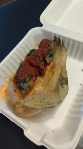 Our tamale; I have no idea what was in it