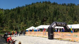A view of the finish line of Matt's 100k race outside of Saltillo