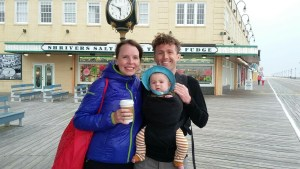 Our wonderful family of 3 on the boardwalk in Ocean City, NJ, before heading abroad