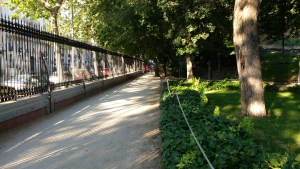 Along the perimeter of Retiro Park