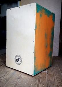 Vintage turquoise over orange