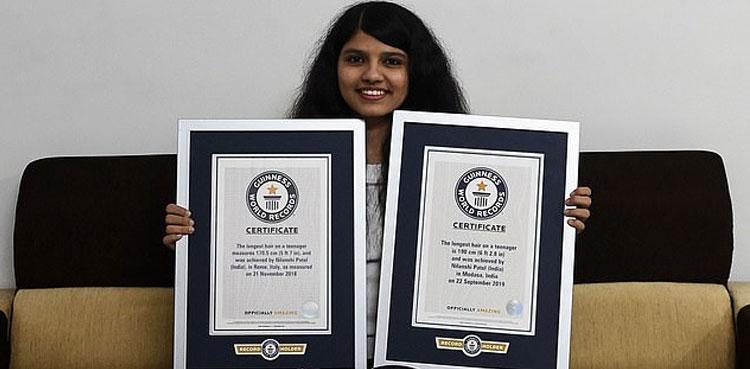لمبے بالوں والی لڑکی نے اپنا ہی عالمی ریکارڈ توڑ دیا ویب ڈیسک 20 جنوری