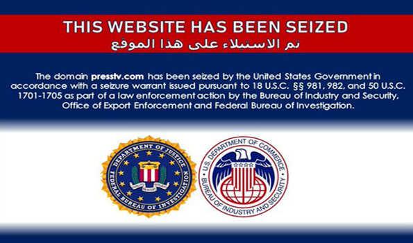 ایران کے پریس ٹی وی کا الزام ، ویب سائٹ ڈومین کو امریکی حکومت نے کیا ضبط