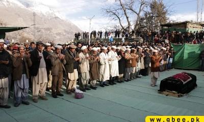 Allamah Nasir Hunza funeral