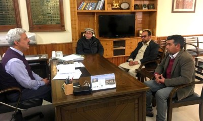 Hunza Press Club members with Chief Secretary Gilgit Baltistan Khurram Agha