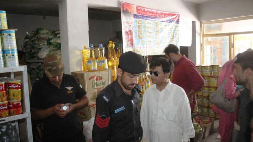 علی آباد ہنزہ میں دکانوں پر چھاپے، گراں فروشوں کو وارننگ دی گئی