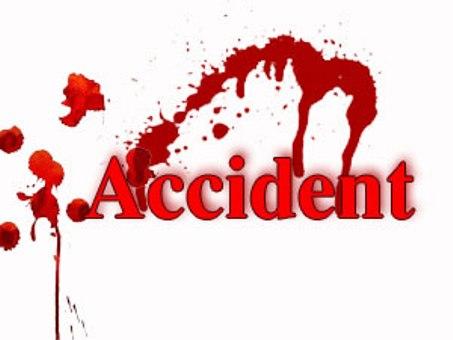 تھک ڈسر میں ٹریفک حادثہ، دو افراد زخمی