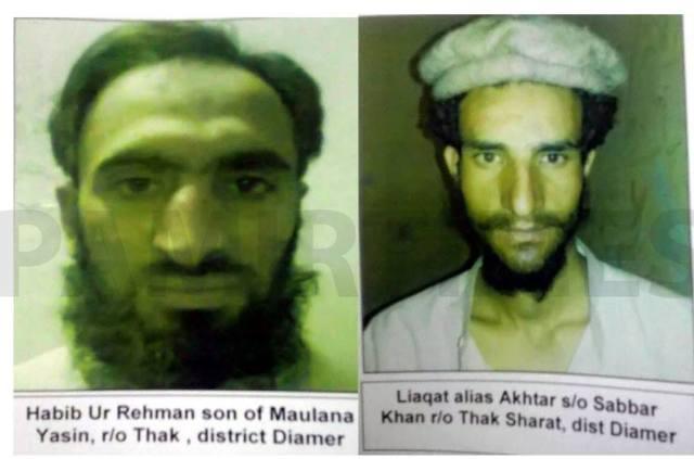 کل گلگت جیل سے فرار ہوںے والے دو قیدیوں کی تصویریں