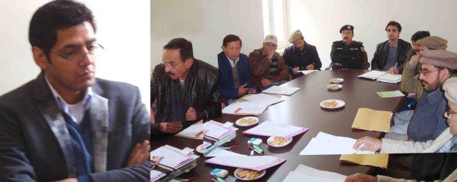 ڈپٹی کمشنر ہنزہ نگر عمران علی سلطان کے زیر صدرات ڈسٹرکٹ کو ارڈینشن کمیٹی کا اجلاس میں ضلعی سربراہان شریک ہیں۔