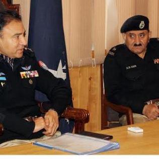 Gilgit.IGP Zafar iqbal election ma security ky hawaly se metting ki sadarat kar rahy han
