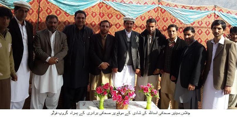 چلاس، معروف صحافی اسد اللہ خان رشتہ ازدواج میں منسلک ہو گئے