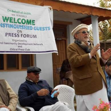 چترال: بونی میں پریس فورم، منتخب نمائندوں کے بارے میں شکایات کے انبار