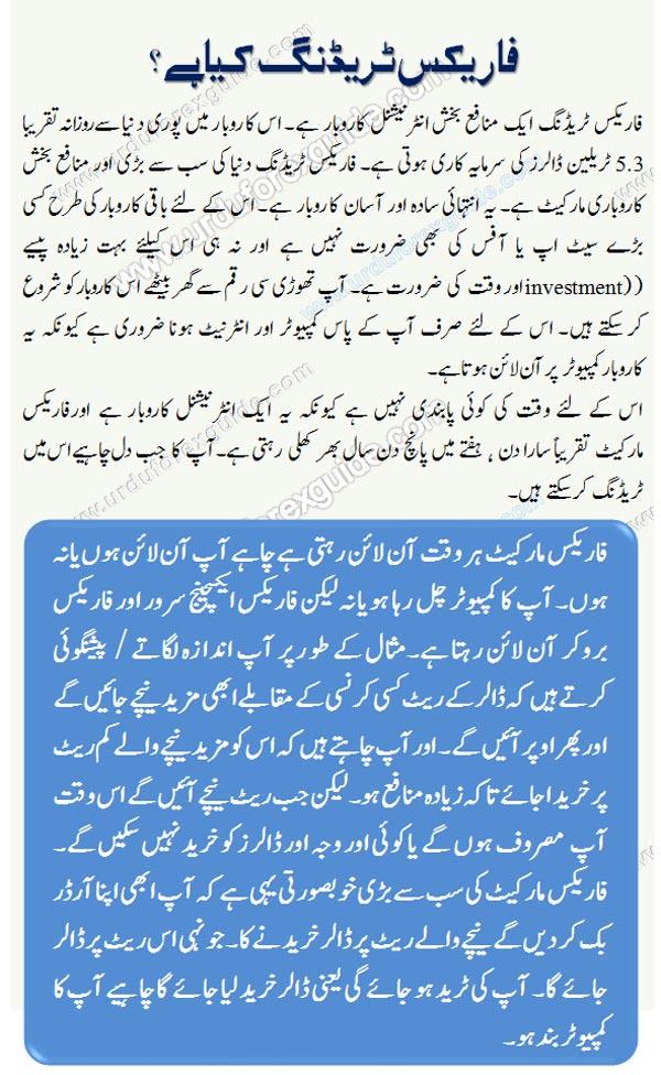 What is forex trading business, learn in Urdu, Learn how forex trading works in Urdu