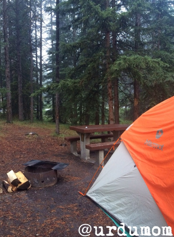 camping for the first time