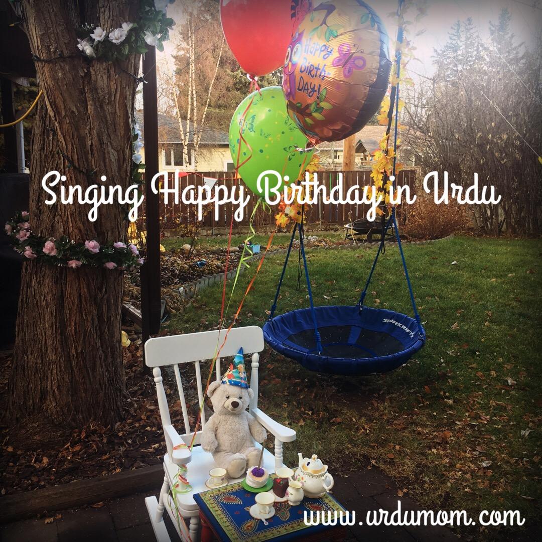 Singing Happy Birthday In Urdu