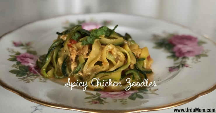 Spicy Chicken Zoodles