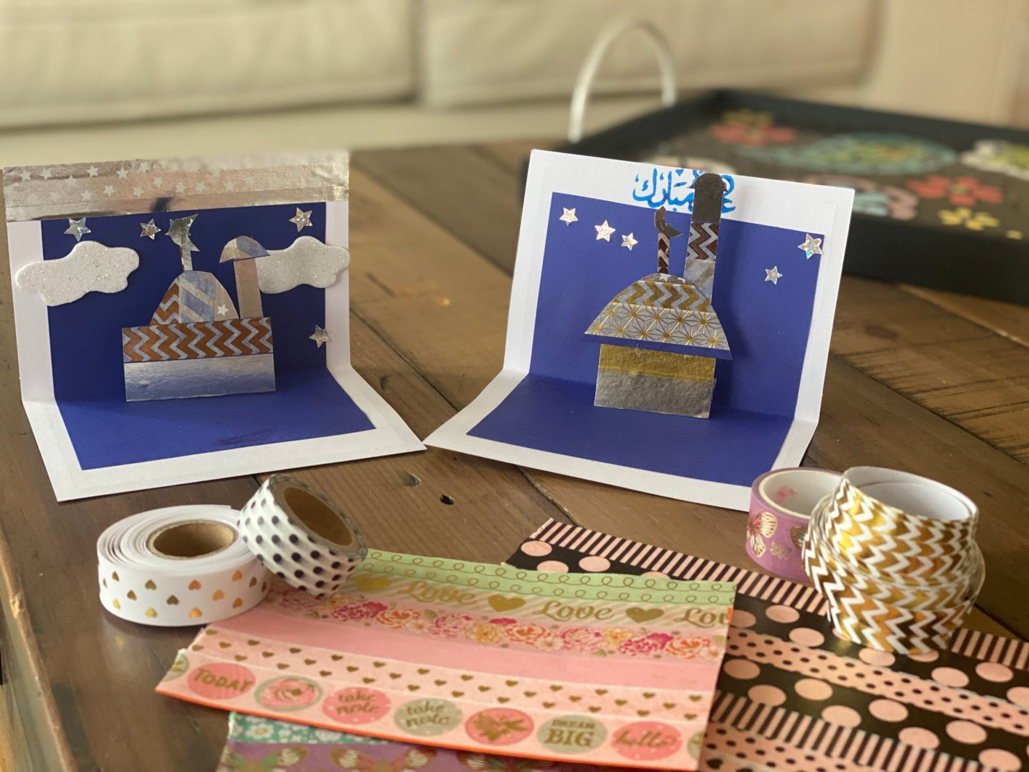 how to make 3d popup eid cards