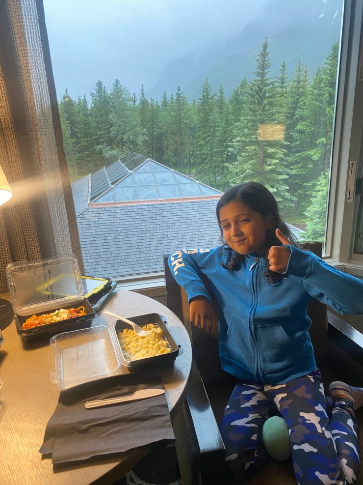 room service at Kananaskis Mountain Lodge