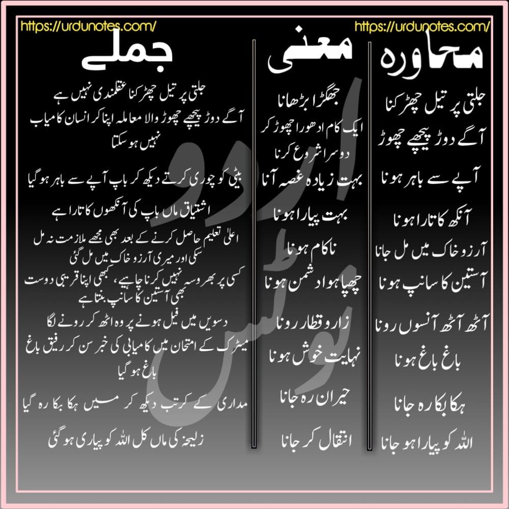 Urdu Muhavare Collection 3