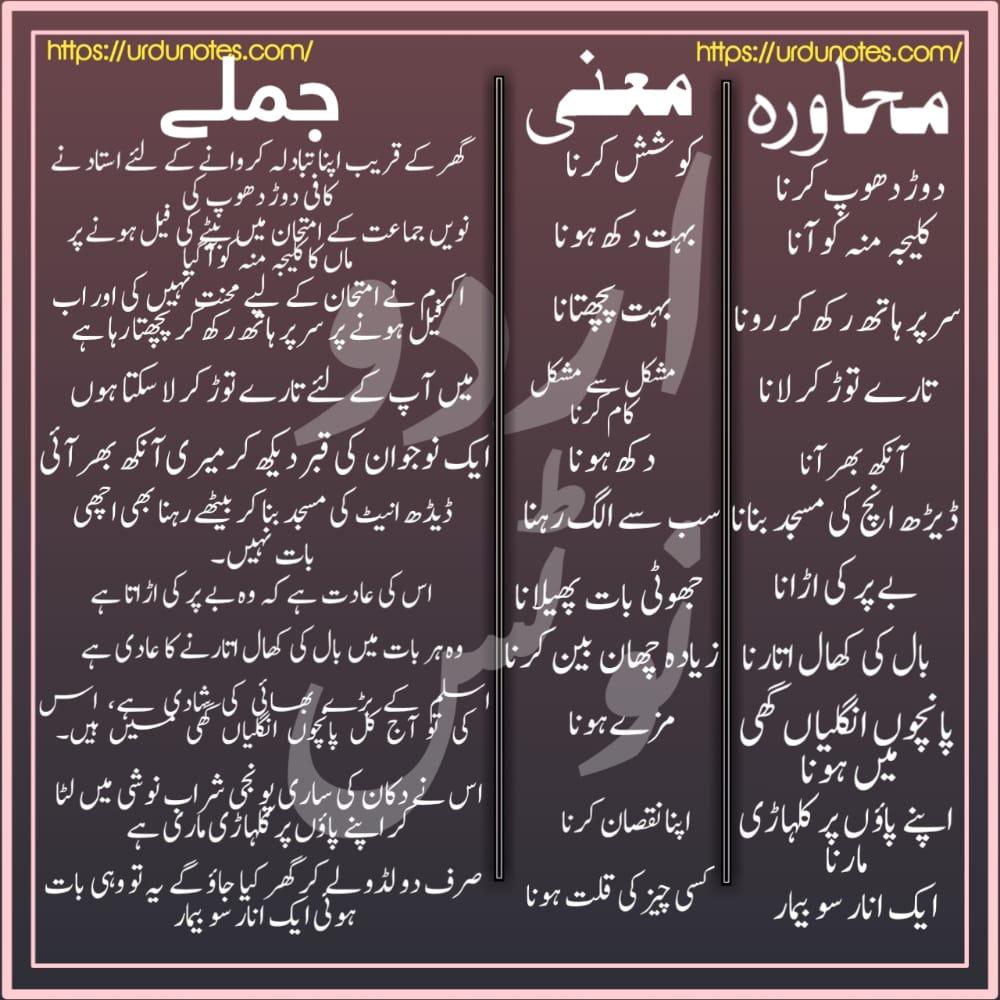 Urdu Muhavare Collection 5