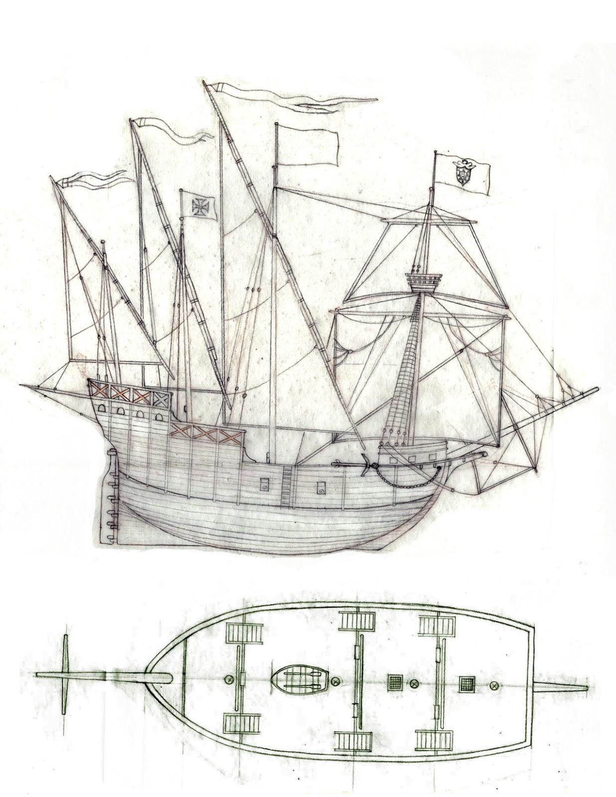 diagram of a caravel ship ez go wiring gas sailing graphics elsavadorla