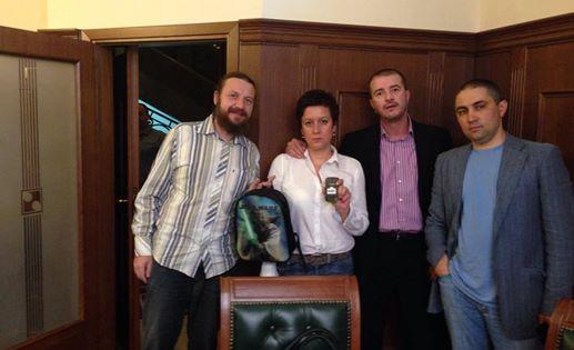 Четиримата акционери в КТБ. Снимка: Протестна мрежа