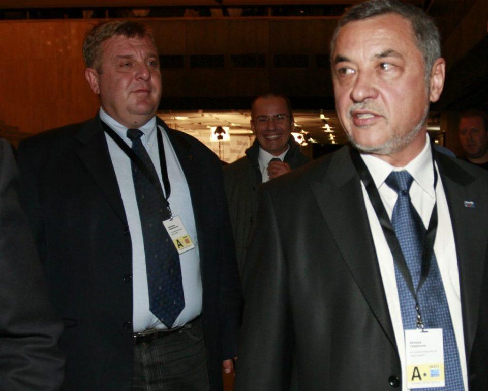 Съпредседателите на Патриотичния фронт Красимир Каракачанов Валери Симеонов. Снимка БГНЕС