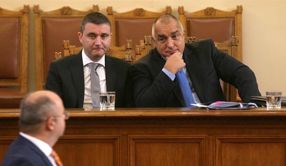 Премиерът Бойко Борисов и финансовият министър Владислав Горанов. Снимка: БГНЕС