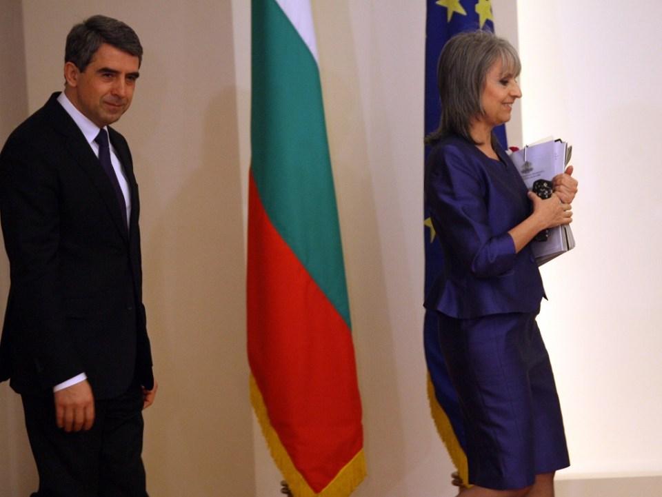 Държавният глава Росен Плевнелиев и вицепрезидентът Маргарита Попова. Снимка: БГНЕС