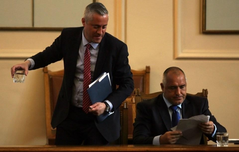 Лукарски и премиерът Бойко Борисов. Снимка: БГНЕС