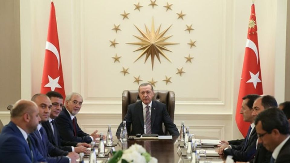 Срещата на Лютви Местан с турския президент Реджеп Ердоган през 2014 г. Снимка: официалният сайт на президента