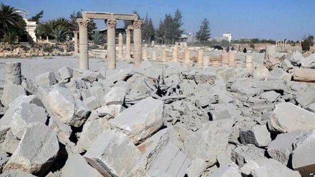 Разрушеният от ИД Храм на Баалшамин