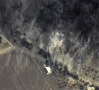 Сателитна снимка от въздушните удари на Русия в Сирия. Източник: ЕРА/БГНЕС