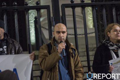 Протест срещу провала на съдебната реформа с участието на депутати от РБ. Снимка: Петър Хаджиколев