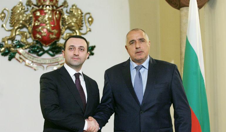 Премиерите на Грузия и България  Иракли Гарибашвили и Бойко Борисов