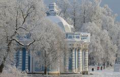 Царское село в Русия, където снегът е чакан и обичан.