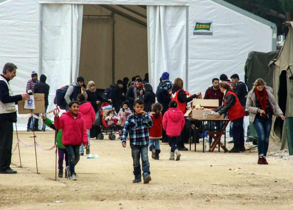 Бежански лагер в Диавата, Гърция.