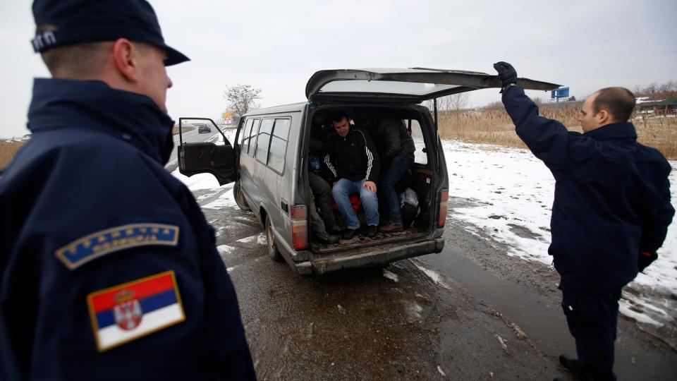 На сръбската граница...