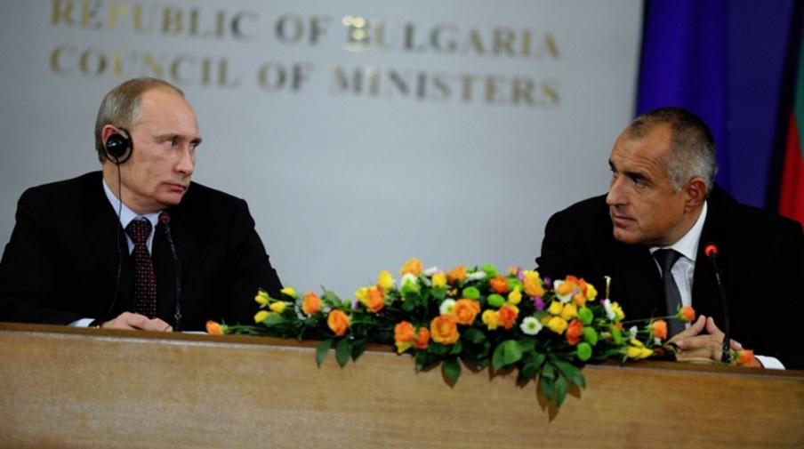 Борисов и Путин при посещението на руския президент в София през 2010 г. Снимка: БГНЕС
