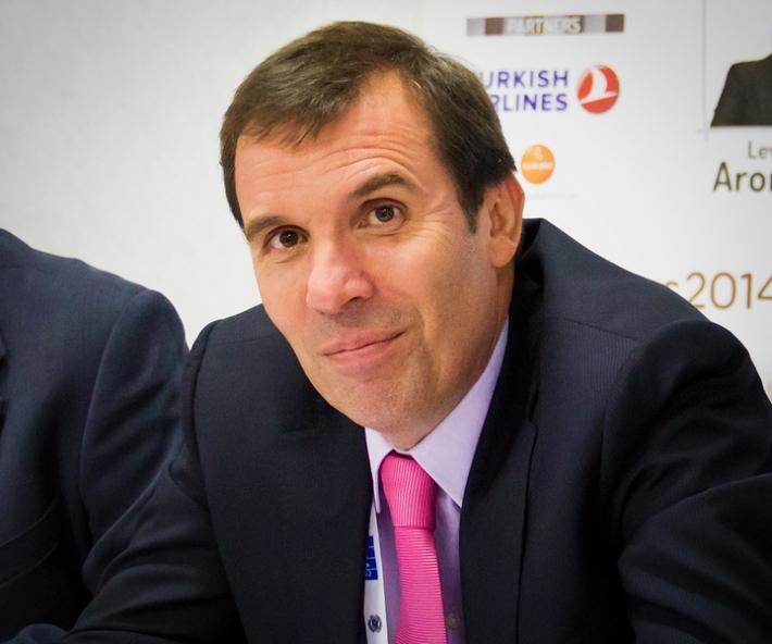 Президентът на Българската федерация по шахмат Силвио Данаилов. Снимка: danailov-for-president.com