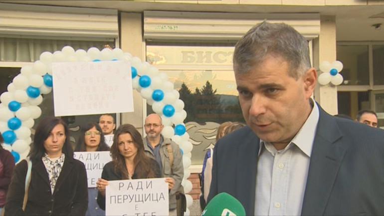 Кметът на Перущица Ради Минчев, стопкадър bTV