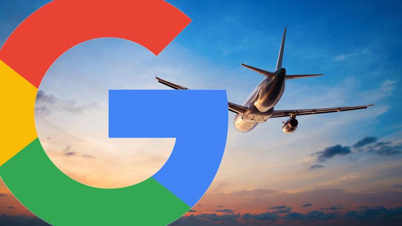 google пътуване самолет