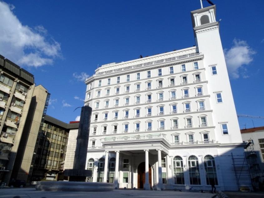 Централата на ВМРО-ДПМНЕ в Скопие. Снимка: Wikimedia