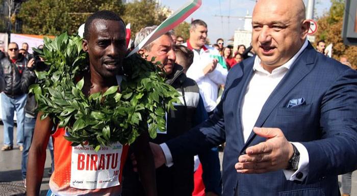 Етиопецът Гудета Бирату е шампионът на Софийския маратон. Снимка: Пресслужба на спортното министерство
