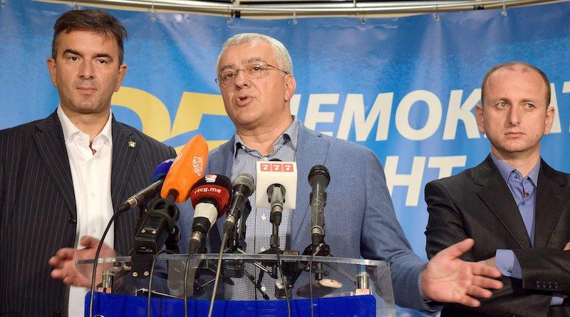 Лидерът на опозиционния Демократичен фронт Андрия Мандич, ©EPA/БГНЕС