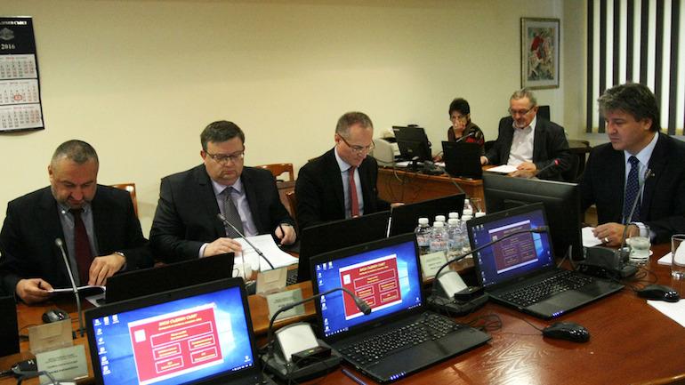 Ясен Тодоров, Сотир Цацаров, Лозан Панов и Димитър Узунов на заседание на ВСС © БГНЕС